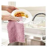 Toallas de Cocina 5 UNIDS/Set HOTOR Cocina Cocina Toalla Absorbente Espesado Microfibra Microfibra Tabla de Cocina Toalla de Cocina Limpieza de Platos para casa (Color : 5pcs)
