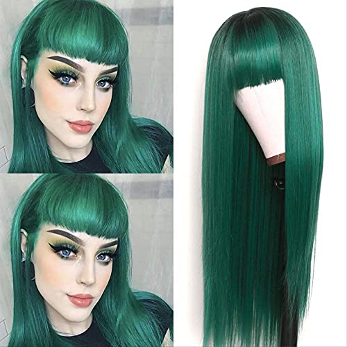 Peluca Verde  marca YOUKKGL
