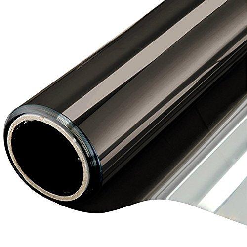 NewStar Sonnenschutzfolie | selbsthaftende Fensterfolie | UV-Schutz & Sichtschutzfolie, Kratzfest,Verdicken Materialstärke 0.1 mm (Schwarz Grau, 60 x 400 cm)