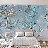 Tapeten Wandbilder,Stereo Blaue Textur Marmor Foto Anpassen