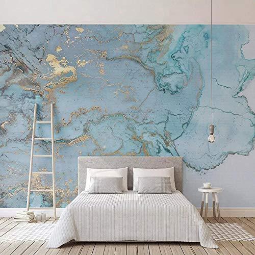 XLXBH behang, zelfklevend, 3D-fotobehang, stereo, blauw, gestructureerd, marmer, behang, wand, woonkamer, slaapkamer, studio, decoratie, kinderkamer, kantoor, eetkamer, woonkamer 350x256 cm (WxH) 7 rayas - autoadhesivas
