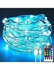 xiahe Sagolampa, 110 LED 11 M 16 färger ljusslinga, med fjärrkontroll, batteri och USB-strömförsörjning, lämplig för Halloween och Halloween sovrum dekorationsfest, vattentät ljusslinga