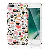 Slim Fit Soft Flexible Cute Protective Phone Case Cover for iPhone 7 Plus/iPhone 8 Plus (Seamless Sushi Sashimi Pattern)