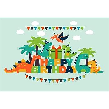 10x6.5ft Background Cartoon Dinosaur World Photography Backdrop Photo Studio Props for Children Newborn LHFU290