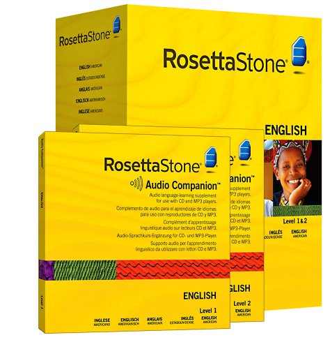 Rosetta Stone Version 3: English (US) Level 1 and 2 Set with Audio Companion (Mac/PC CD)