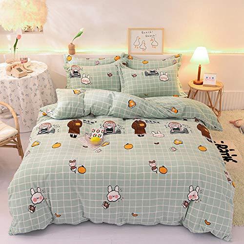 Bedding-LZ Bettwäsche Set 200 x 220 cm Grau,Verdickte Milch Samt Goldener Nerz Bettbezug warmes Einzelbett Bettbezug Bettlaken Kissenbezug B_1,8 m Tagesdecke (4 Stück)