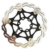 Peso: 110 g. Dischi del freno, ruota dentata per bicicletta mountain bike downhill, 180mm, nero