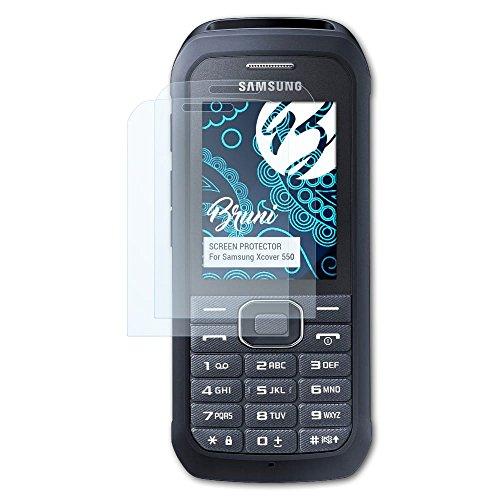 Bruni Schutzfolie kompatibel mit Samsung Xcover 550 Folie, glasklare Bildschirmschutzfolie (2X)