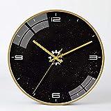 WWSC Reloj De Pared Relojes De Color Silencioso 30 Cm Simple Y Elegante, Moderno, Plástico, Metal, Decorativo, Reloj De Pared, Barra Casera Interior-Reloj Seguro A-30cm