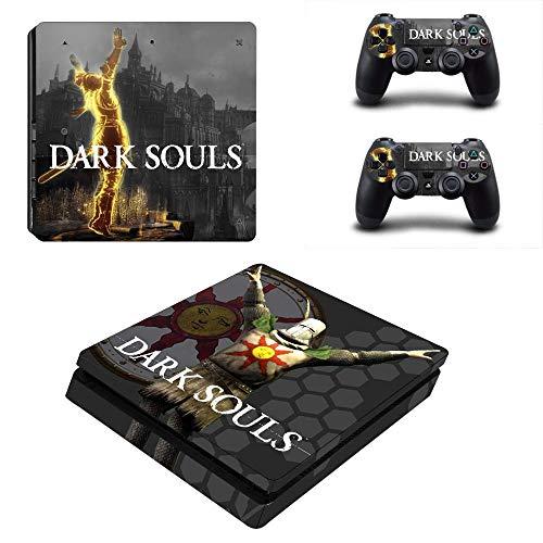 TAOSENG Dark Souls PS4 Slim Skin Sticker Decal Vinyl for Dualshock Playstation 4 Console & Controller PS4 Slim Skins Stickers Vinyl