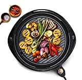 Maxi-Matic Indoor Electric Nonstick Grill Adjustable Thermostat, Dishwasher Safe, Faster Heat Up,...
