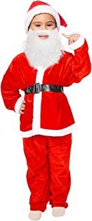 JUISEE Kids Christmas Santa Claus Costumes for Toddlers Boys Santa Suits Girls Children's Costumes Red