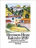Kalender 2020: Mit dreizehn Aquarellen des Dichters und jahreszeitlichen Betrachtungen - Hermann Hesse