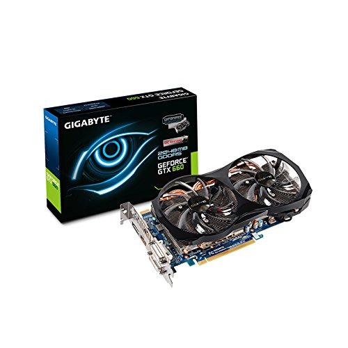 Gigabyte GV-N660OC-2GD NVIDIA GTX 660 Grafikkarte (PCI-e, 2GB, GDDR5 Speicher, DVI, HDMI, DisplayPort, 1GPU)