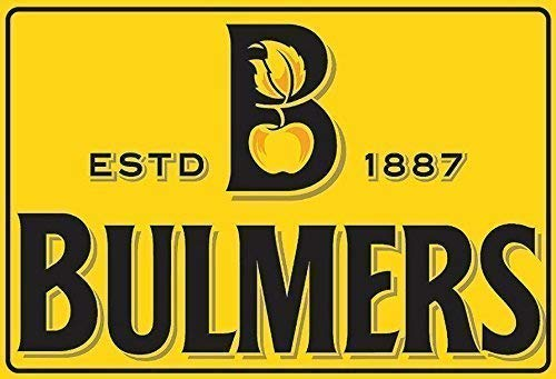 Kilburn Bulmers Cider Label Logo Retro Creative Wall Decoration Personality Trend Background Simple Style Iron Painting