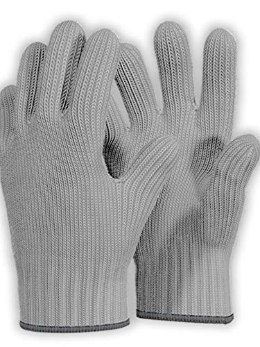 Killers Instinct Outdoors 1 Pair Grey Heat Resistant Gloves Oven Gloves Heat Resistant with Fingers Oven Mitts Kitchen Pot Holders Cotton Grey 2pcs