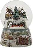 Train Tunnel Winter Scene 120MM Revolving Musical Glitterdome Plays Over the River and Through the Woods