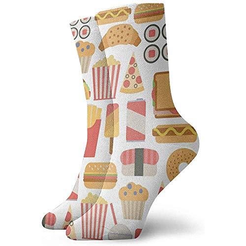 Hamburger Muster Söckchen Lässige gemütliche Crew Socken für Männer, Frauen, Kinder
