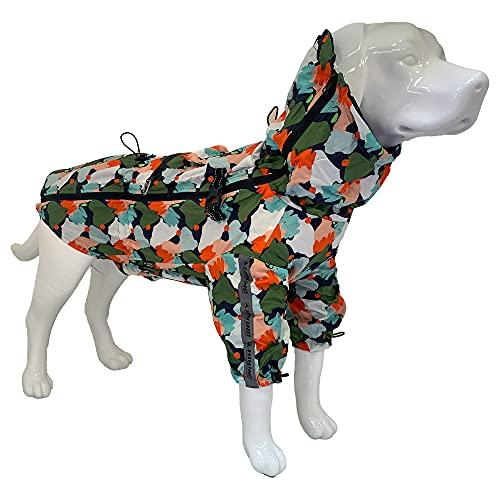 Croci Hiking Regenmantel für Hunde, tragbar, Go Harlequin, Größe 35 cm - 194 g