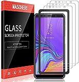 MASCHERI 3 Piezas Protector de Pantalla Compatible para Samsung Galaxy A7 2018 Marco de...