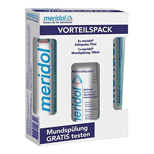 MERIDOL Zahnpasta Vorteilspack+100 ml Spülung 2X75 ml
