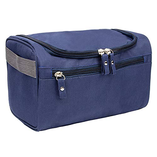 Hanging Travel Bag - Large Waterproof Oxford Wash Makeup Bag Perfectly Rrganize Grooming Tools or Shaving Items Men/Women (Oxford Blue)