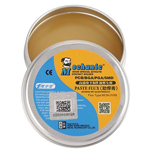 Akozon Pasta per Saldare, MCN-UV50 Flusso di Saldatura di Stagno Elettrica per PCB/BGA/PGA/SMD Pasta Flussante