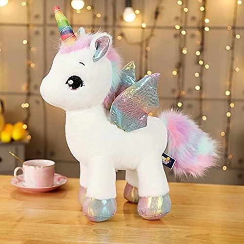 Dehcye 2021 New Fuzzy Unicorn Plush Toy Angel Unicorns Stuffed Doll Sweet Plushie Fantasy Kids Girlfriend Fishion Day Gift 4 Sizes StandingWhite100cm