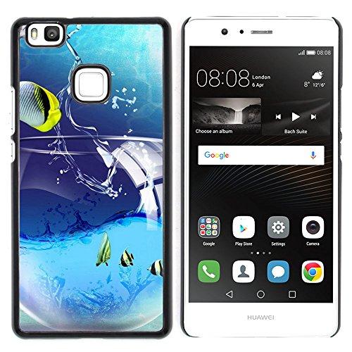 OB-star ( IFE a Pescado Huawei P9 Lite / G9 Lite (Not for P9) Huawei P9 Lite/Huawei G9 Lite (Not for P9) Impreso Colorido Protector Duro Espalda Funda Piel De Shell