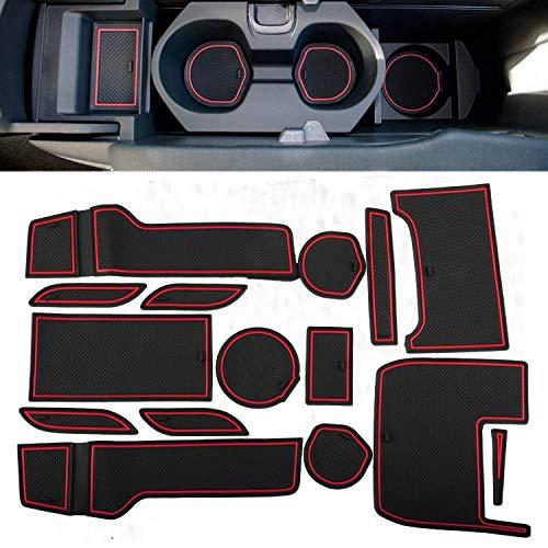 SENYAZON portavasos y Compartimento para Puerta Accesorios para 2016 2017 2018 2019 Honda Civic Puerta Mat Ranura Pad 15 Piezas