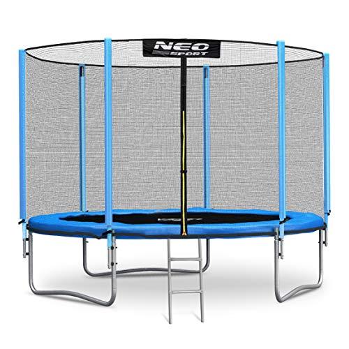 Neo-Sport Trampolin 305 cm 10 ft mit Sicherheitsnetz Außennetz Gartentrampolin