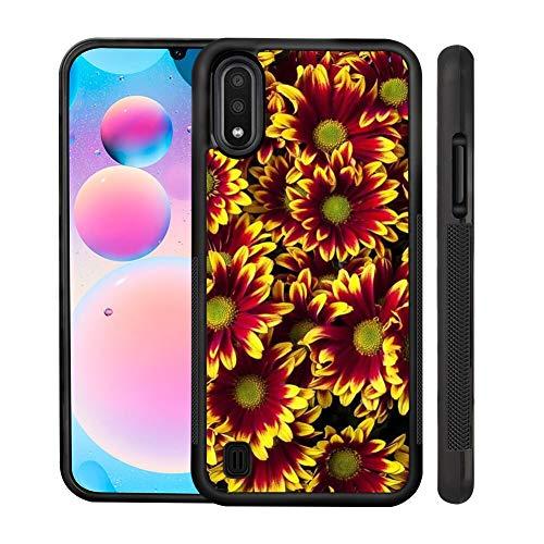 UZEUZA Carcasa para Samsung Galaxy S20+, resistente a los golpes, diseño de flores, color negro