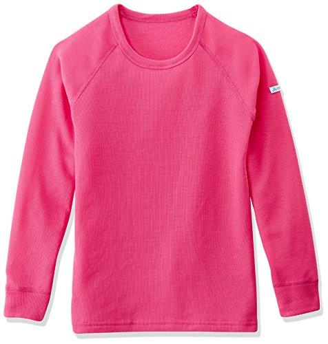 Odlo - Crew Neck Warm - T-shirt - manches longues - Enfant - Rose (magenta) - FR: 8 ans (Taille Fabricant: 128 cm)