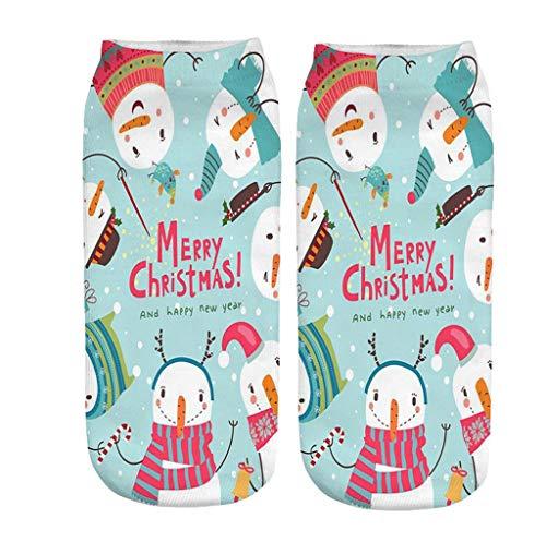 YWLINK CalcetíN De Navidad Medias De Trabajo Calcetines Deportivos Casuales Calcetines Caseros El úLtimo Disfraz De Fiesta De Navidad Impreso En 3D Regalo 17 Patrones EstáN Disponibles
