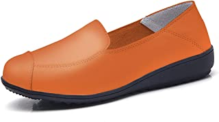 Jiyaru Womens Breathable Slip-on Sneakers Low Top Nursing Loafers Shoes