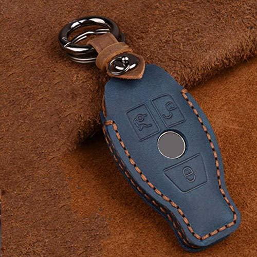YUFFD Llavero inteligente de 3 botones para llave de coche, funda para bolsa, para Mercedes Benz W210 W211 W212 W124 W176 W202 W205 GLK SLK