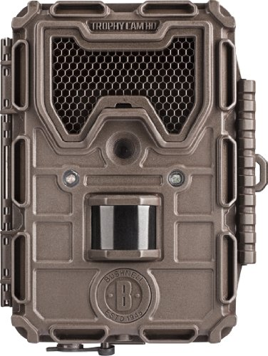 Bushnell 8MP Trophy Cam HD Max LED Trail Camera with Night Vision, Black