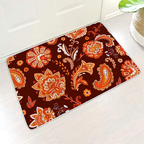 YCNJJB Welcome Mat Flower Floormat Non-Slip Indoor Holiday Ornament use - for Home Decor white 18x30 inch