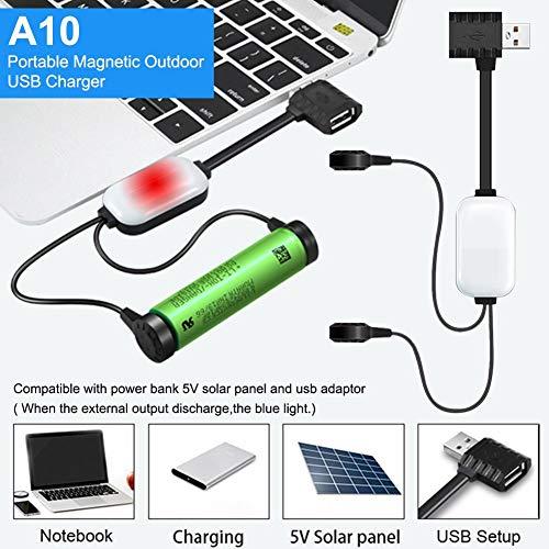 Letway A10-Ladegerät Für Lithium-Ionen-Akkus Multifunktions-Magnet-USB-Ladegerät Mini-Lade- / Entladestrombank Für 18650 25500 22650 economical