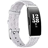 KIMILAR compatible with Fitbit Inspire/Inspire HR/Ace 2 / Inspire 2 Strap for Women Men, Replacement Soft Fabric Band Breathable Nylon Woven Strap for Inspire HR/Inspire 2 / Ace 2 / Inspire
