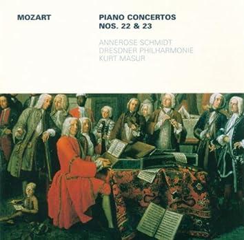 MOZART, W.A.: Piano Concertos Nos. 22 and 23 (Schmidt, Dresden Philharmonic, Masur)