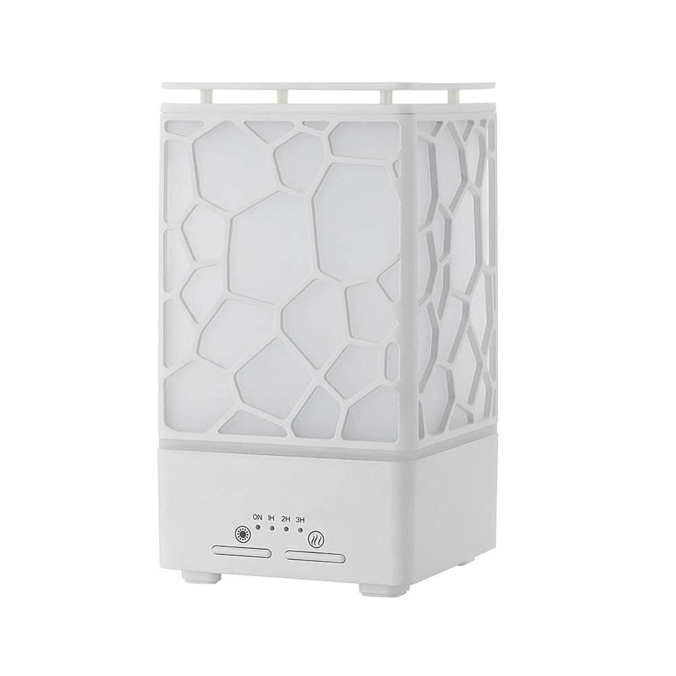 仮定するセットアップ物理的なデスク ミニ ウォーターキューブ 加湿器,涼しい霧 精油 ディフューザー 超音波式 香り 加湿機 時間 7 色 ホーム Yoga スパ オフィス- 200ml