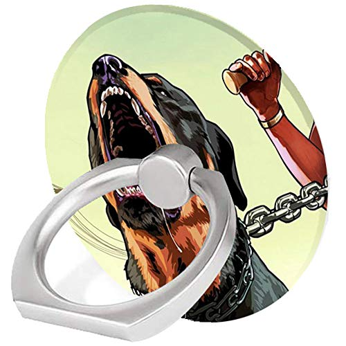 Phone Ring Holder,Manic Black Dog Pattern Design Cell Phone Ring Stand 360 Rotation Finger Ring Grip Kickstand,Compatible with iPhone,Samsung,Google,HTC,MostSmartphone,iPad