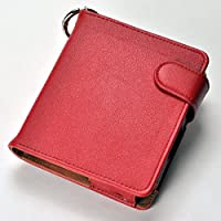 iQOS アイコス 専用 レザー 手帳型ケース 全部収納可能 (レッド)