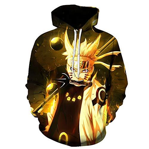 TLLW Pull à capuche unisexe Naruto avec impression 3D - Pour homme et femme - Taille XXS-6XL - - XXL