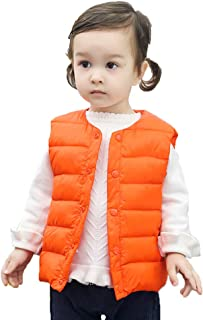 Sameno Toddler Kids Baby Clothes 1-5 T Boy Girl Organic Cotton Jacket Tank Top Coat Vest Fall Winter Outfit Snowsuits