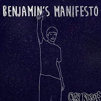 Benjamin's Manifesto