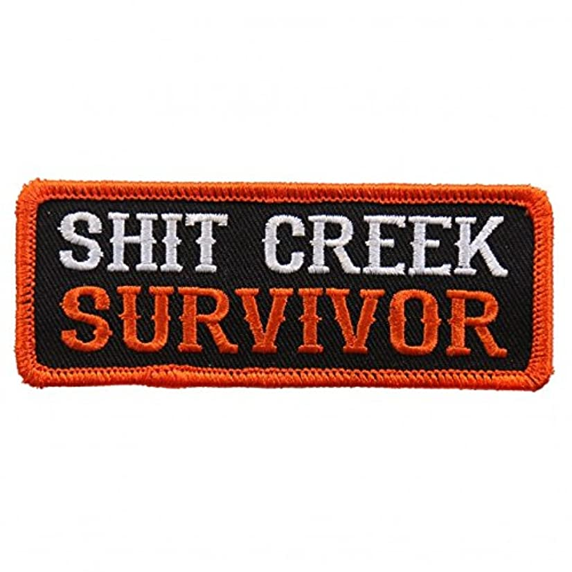 S@@T CREEK SURVIVOR, High Thread Embroidered Iron-On / Saw-On, Heat Sealed Backing Rayon PATCH - 4