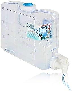 3L Depósito de agua para frigorífico, fino, dispensador refrigerador de agua, tamaño compacto para frigorífico, fuente de ...