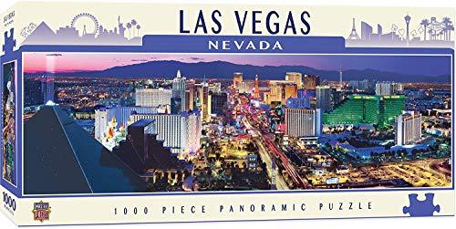 MasterPieces-Las Vegas Rompecabezas, Multicolor, 13' x 39' (Master Pieces 71777)